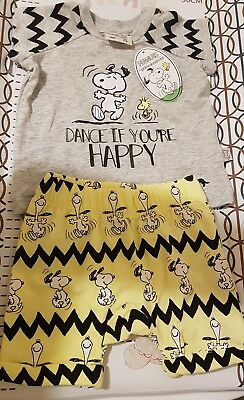 Peter Alexander Baby BNWT Unisex Snoopy Set, Size 0000 0-3 Months  RRP $49.95