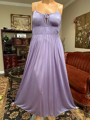 Vintage Gilead Lavender Lilac Grecian Nightgown Negligee Large XL Sissy Diva