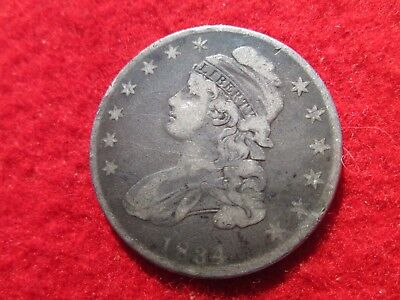 1834 Caped Bust Half Dollar Slightly Modified Portrait Small Date,Stars/Letters