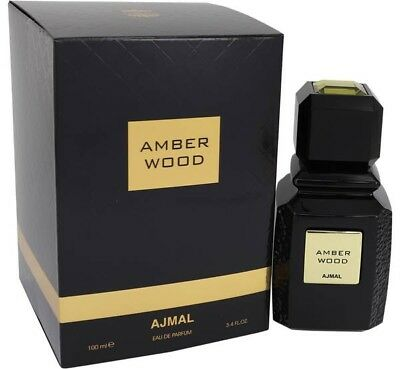 AJMAL Amber Wood 100ml/3.4oz Brand New in Sealed Box, Fast Shipping! STRONG!