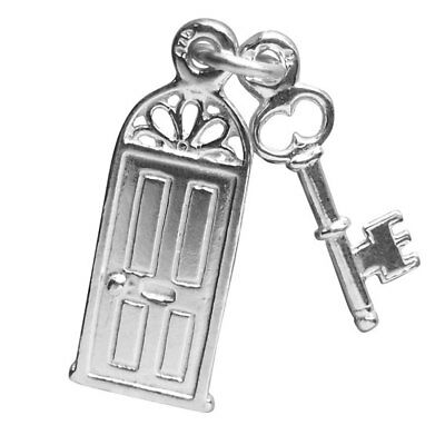 Front Door and Key Charm Sterling Silver .925 New Home