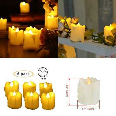 Real Wax Flickering Color Changing Flameless LED Candles W Remote & Timer Decora