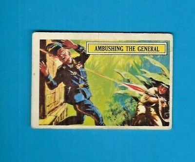 1965 A&bc (Not Topps) Battle Cards British  #7 Ambushing The General Creased