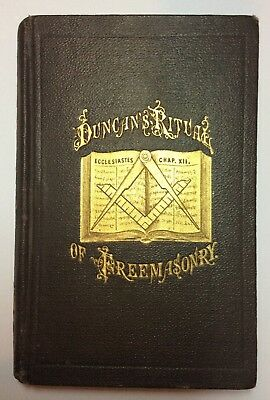 Rare Original Duncan'S Ritual Of Freemasonry Antique Book Early 1900S Fitzgerald