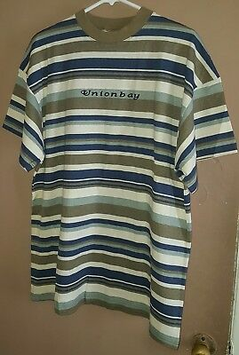 b212ac2f8 Vintage Union Bay Stripe Shirt 90s USA MADE Unionbay Skate Guess Jeans  Spellout