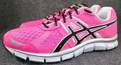 304a81920206 ASICS GEL BLUR 33 Running Shoes Womens Size 11 M Hot Pink Black White