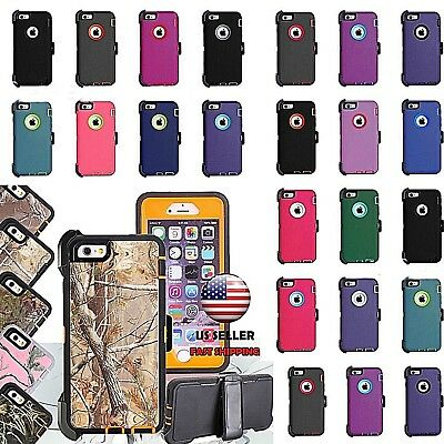 For iPhone X & Xs Rugged Defender Case Cover(Clip Fits Otterbox Defender Series)