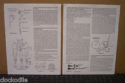 Hermle Grandfather Clock Installation Operating Instructions 451-050 1161-853