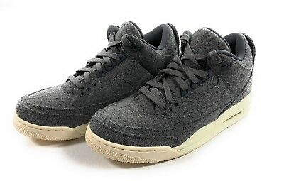 online retailer 10764 08124 Nike Air Jordan 3 Retro Mens Size 10 Wool Dark Grey Sail 854263-004