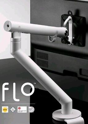 CBS Flo Monitor Arm Dynamic DYN/013/010 WHITE With Desk Fixing