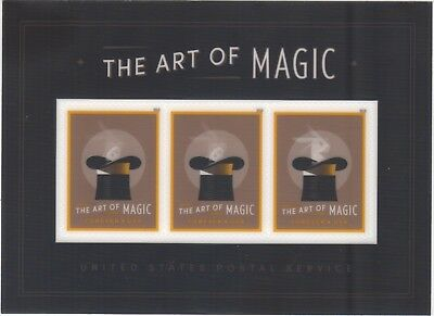 US 5306a Art of Magic Disappearing Rabbits - Forever Souvenir Sheet of 3