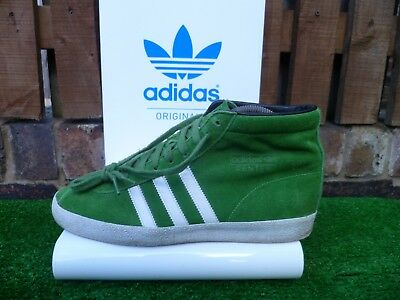 VINTAGE ADIDAS GAZELLE MID CENTER 80 80s casuals GREEN/WHITE 2010 UK9 VERY RARE