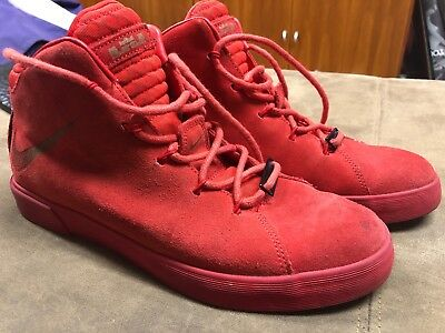 ce279a1f5322 Nike Lebron 12 XII NSW Lifestyle QS University Red October James 716417-600  7.5