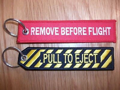 Pull To Eject & Remove Before Flight   Key Tags      FREE P+P  UK SELLER.,,,,