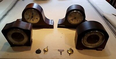 Job lot Of Mantle Chime Clocks
