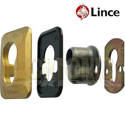 Lince Brass High Security Euro Cylinder Escutcheon Key Cover Plate Front Door