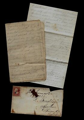 32nd New York Infantry CIVIL WAR LETTER - Great Content Camp at Bakersville, MD