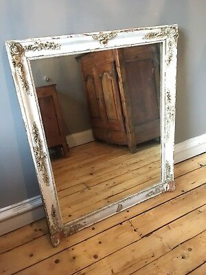 Beautiful Antique French Gilt And Gesso Overmantle Or Wall Mirror.