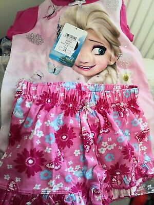 little Girls Frozen Fever Print Pyjama Set age 3/4 from next with tags