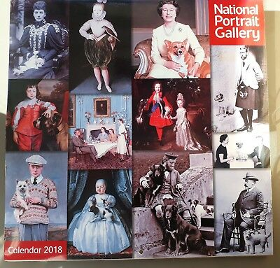 National Portrait Gallery Royalty & Their Pets Calendar 2018 30x30cm Flame Tree