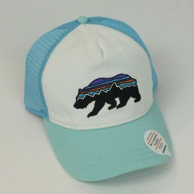 a2192bc0d97 Patagonia NWT W s Fitz Roy Bear Layback Trucker Hat - Blue   White Color
