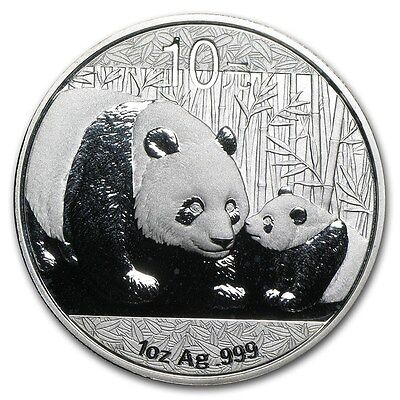 2011 Chinese Panda 1 oz Silver Coin In Mint Capsule