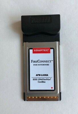 Adaptec FireConnect AFW-1430A 3-Port FireWire IEEE 1394 CardBus Notebooks Laptop