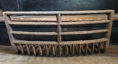 Antique LATE 1800'S Ovaled Face Cast Iron Fireplace Grate Insert Log Holder