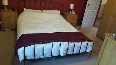Cast Iron Bed Set raw lacquered finish