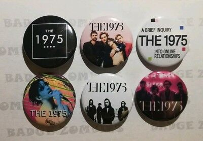 THE 1975 SET OF 6x 25MM BADGES NEW! Brief Inquiry Into Online Relationships