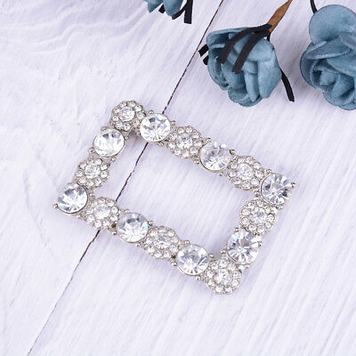 Women's Accessories 1PC Crystal Rhinestones Shoe Clips Women Bridal Prom Shoes Buckle Decor US