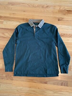 741def6b548 NEW J. CREW 1984 Corduroy Collar Rugby Shirt Mens Small Green ...