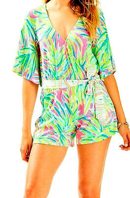 8f76a76771df NWT Lilly Pulitzer Madilyn Romper Royal Lime Engineered Size SMALL 45% OFF  LIST