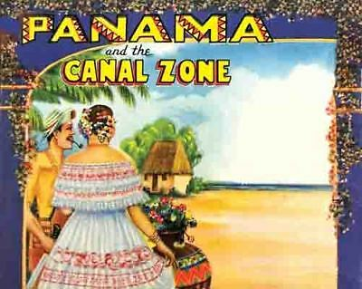 Vintage Antique Rare  POSTER 1950's  Panama Canal Zone Central America  Travel