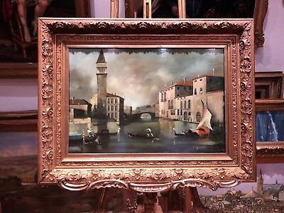 Early 1900's Follower of Francesco Guardi VENICE MASTER OIL PAINTING LARGE
