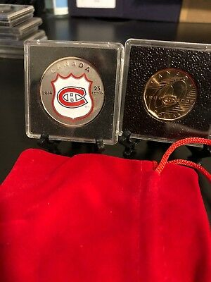 2014 Montreal Canadiens Colour Oversized Quarter & 2009 $1 Get Both!! And Gifts