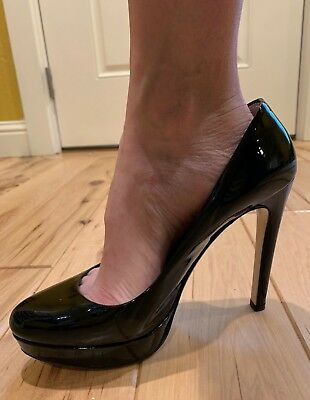 d68c7495382 Miu Miu by Prada 39.5 Black Patent Leather Platform Heels Pumps made in  Italy