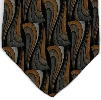 "Cocktail Collection Men's Tie Brown Gin & Tonic 100% Silk 57"" x 3.75"" Brand New"