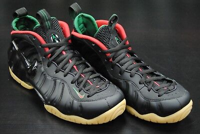 87335a77bef  624041 004  New Men s Nike Air Foamposite Pro Black Gym Red Gorge Green  Le692