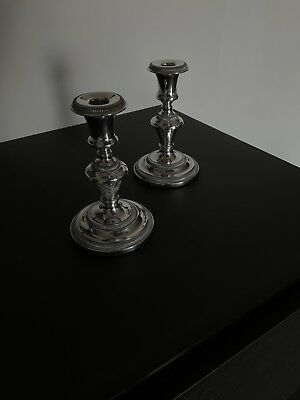 Silver Candle Sticks (pair)