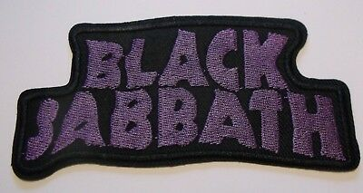 "Black Sabbath Patch~Embroidered~Iron or Sew on~4 3/4"" x 2 3/8""~FREE US Mail"