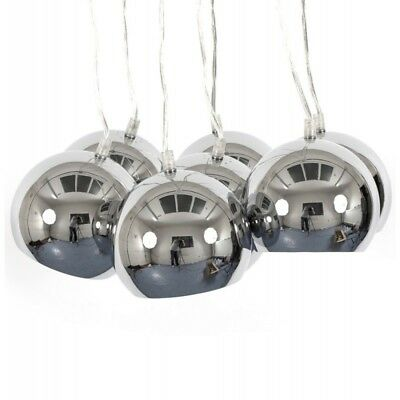 "Paris Prix - Lampe Suspension ""grappe"" 45cm Chrome"