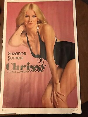 ORIGINAL 1977 - SUZANNE SOMERS as CHRISSY in THREE'S COMPANY - DARGIS POSTER