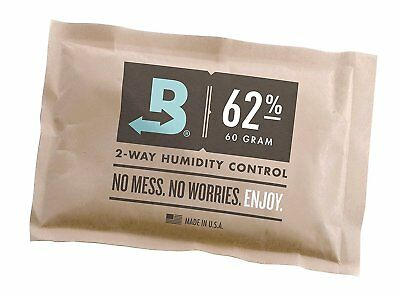 Boveda 62% RH Individually Over Wrapped 2 Way Humidity Control Pack 60g
