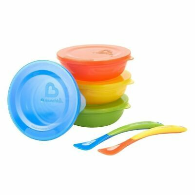 Munchkin Baby Toddler Love A Bowls 10 Piece Set - 4 Bowls With Lids & 2 Spoons