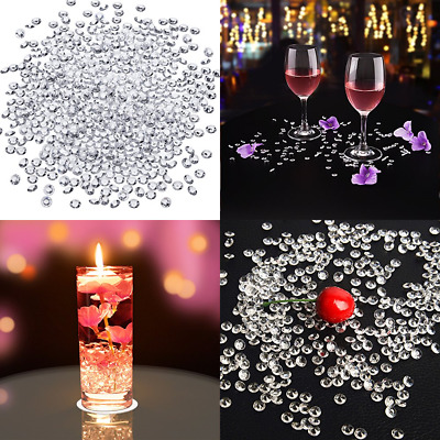 5000 Pack 6 Mm Clear Acrylic Diamond Scatters Crystal Table Confetti For Wedding