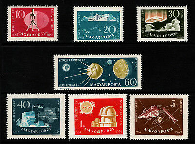 OPC 1959 Hungary Space Set Sc#1212-1218 MNH 34687