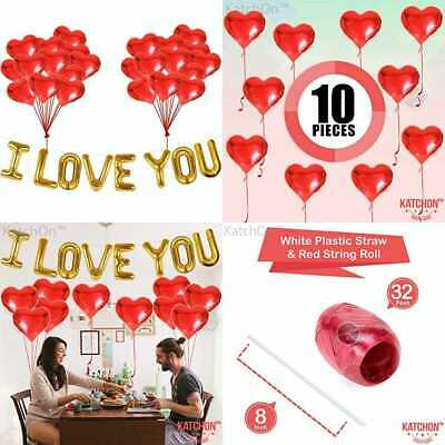 I Love You Balloons & Heart Kit Pack Of 28 Valentines Day Decorations For Party