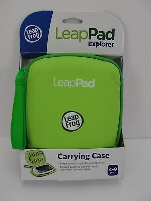 LeapFrog LeapPad LeapPad 2 Explorer Carrying Case Holds 6 Cartridges Green, New