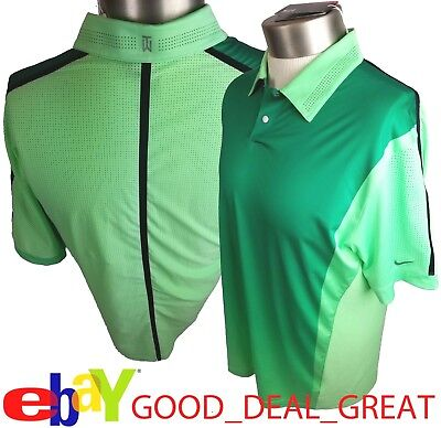 85c70522 Nike TW Tiger Woods Perforated Panel Polo Shirt 639049-335 *Rare & Hard to